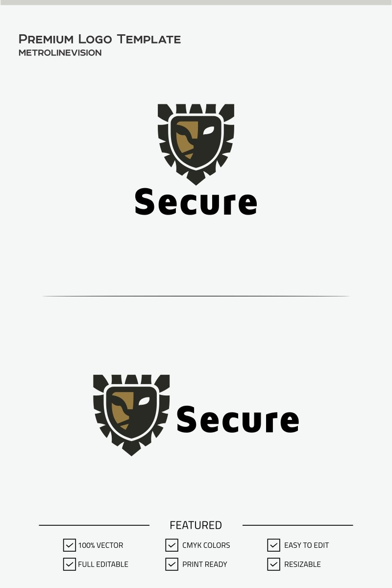 Secure Lion Logo Template