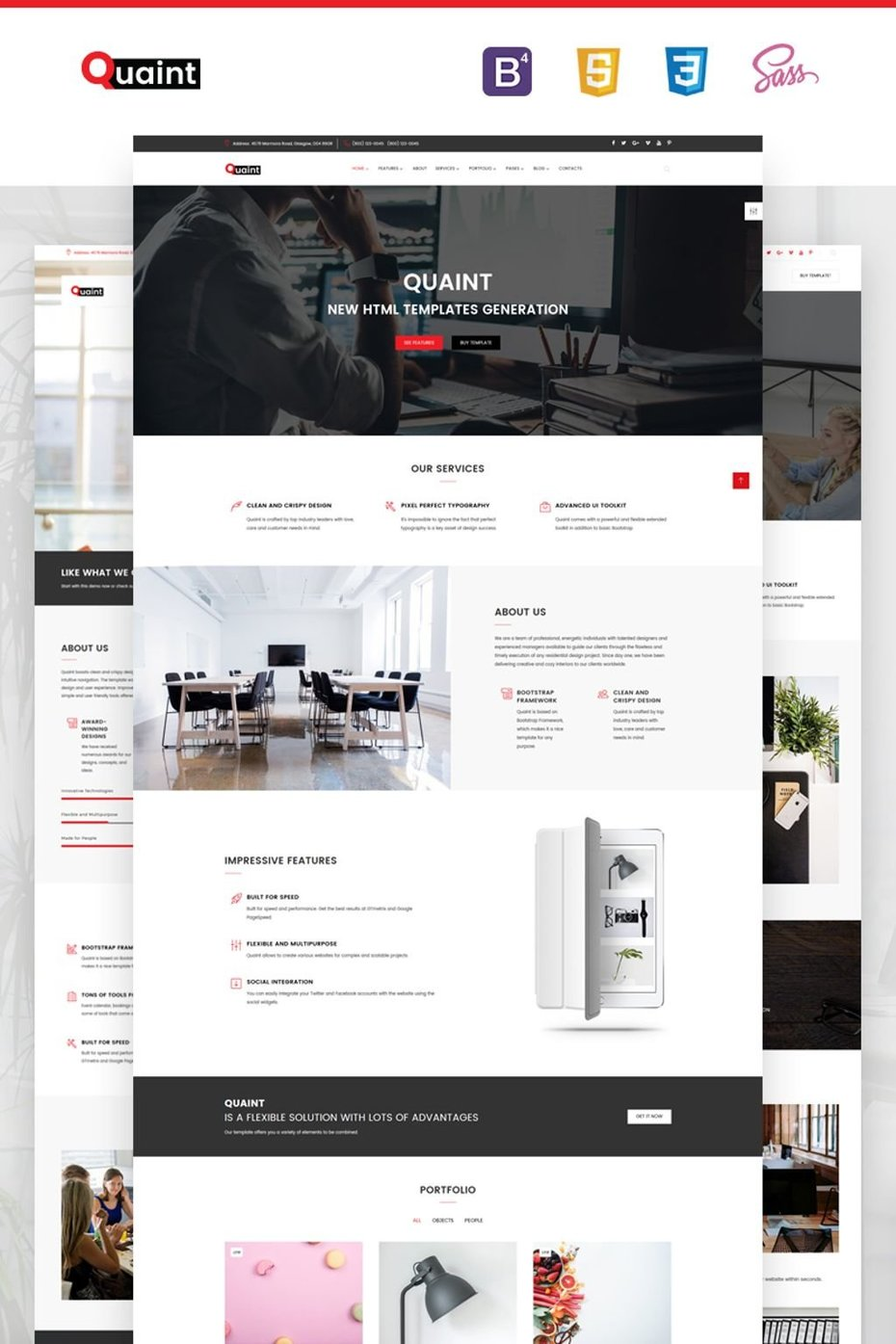 Business Flexible Multipurpose Bootstrap Website Theme