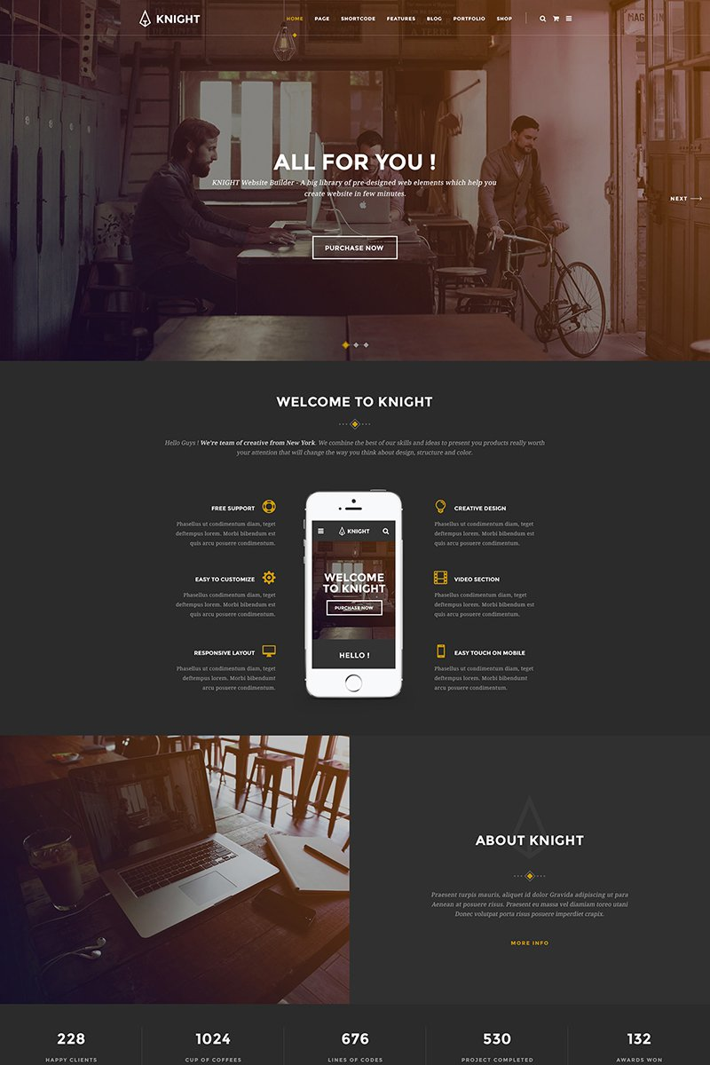 Corporate and Shop PSD Theme