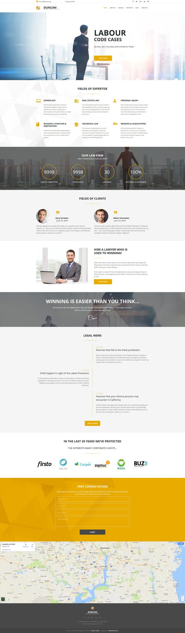 Lawyer Responsive Moto CMS 3 Template