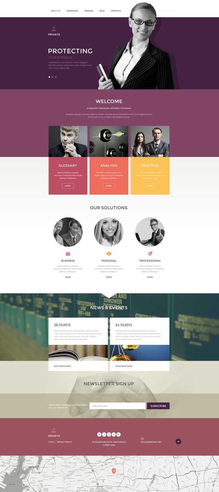 Law Office Responsive Drupal Theme