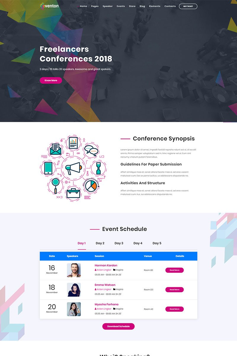 Event / Conference Bootstrap Joomla Template