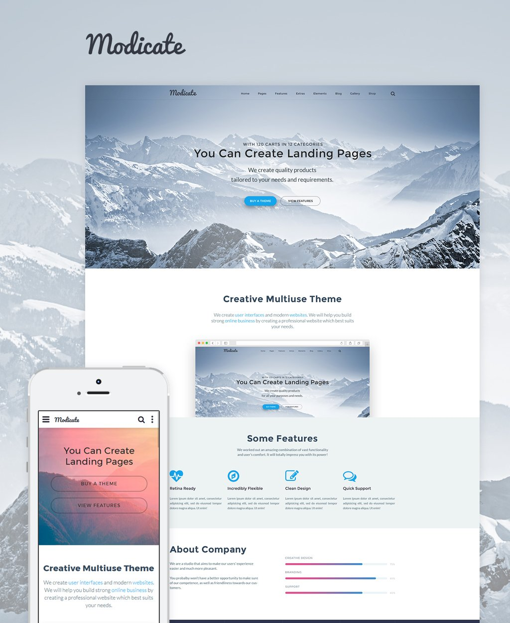Modicate Multipurpose Bootstrap Website Template
