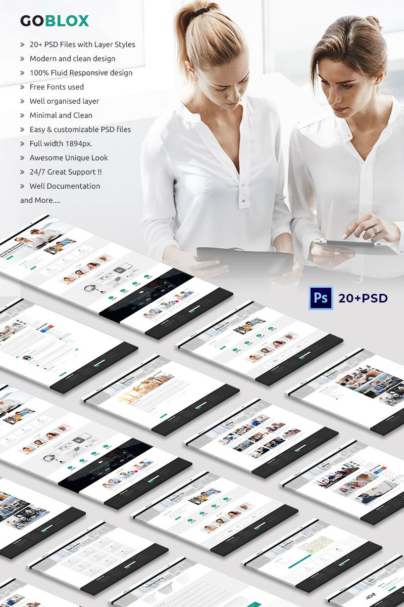 Multipurpose Business and Corporate Bootstrap PSD Template