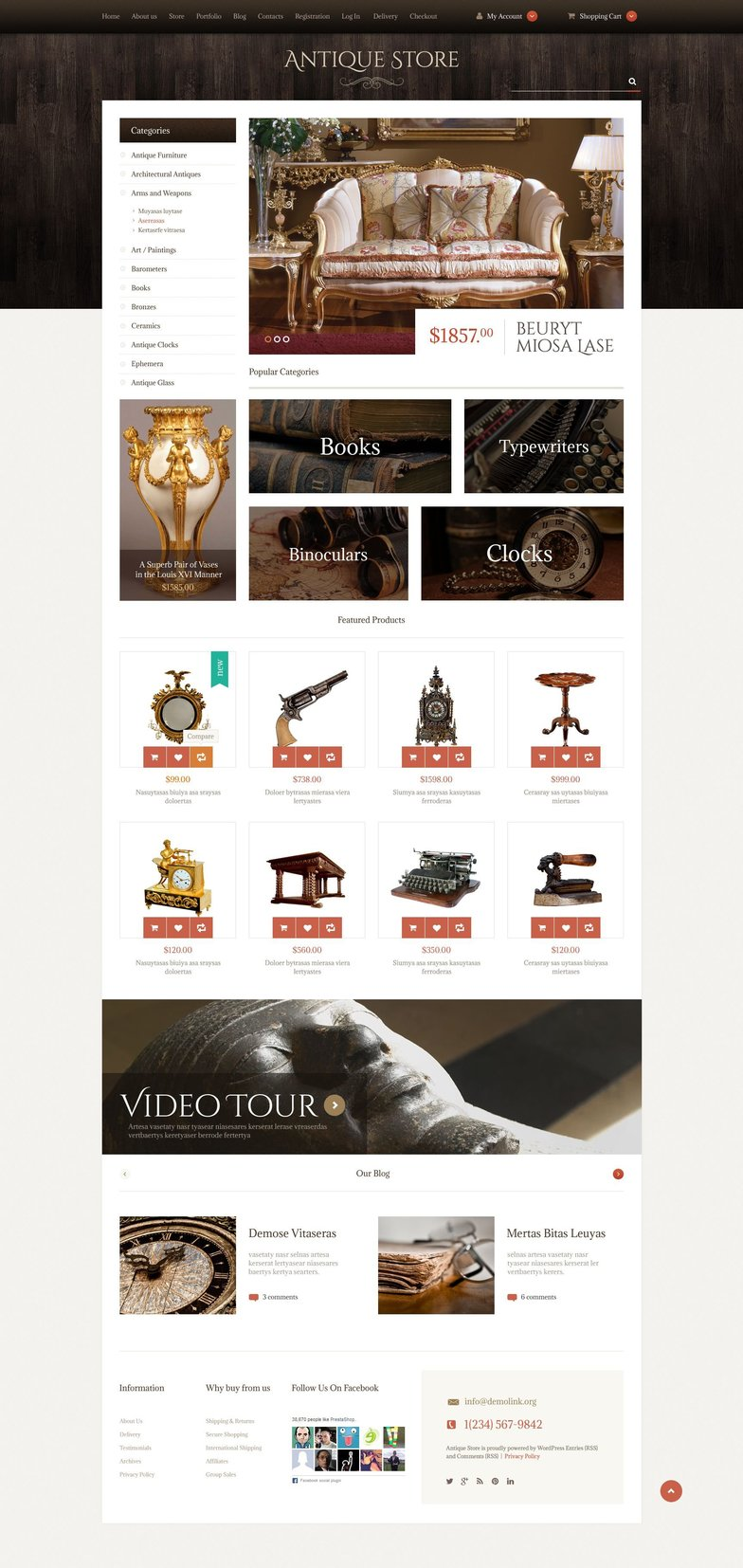 Antique Items WPML ready WooCommerce Template
