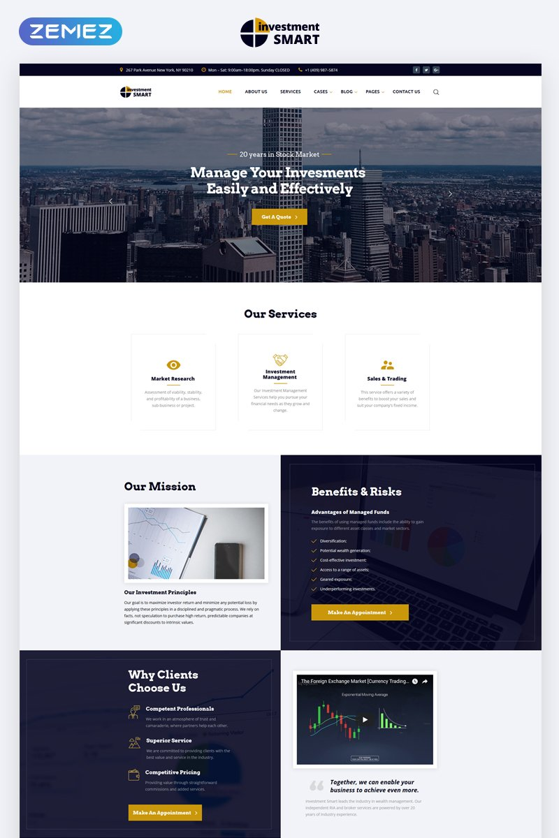 Solid Investment Agency Multipage HTML Responsive Website Theme