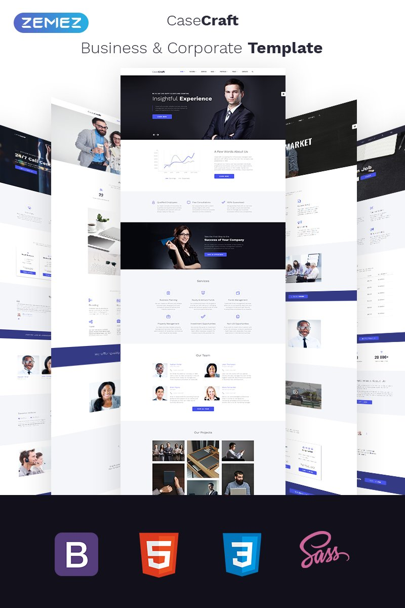 Elegant Financial Company Multipage Responsive Website Theme