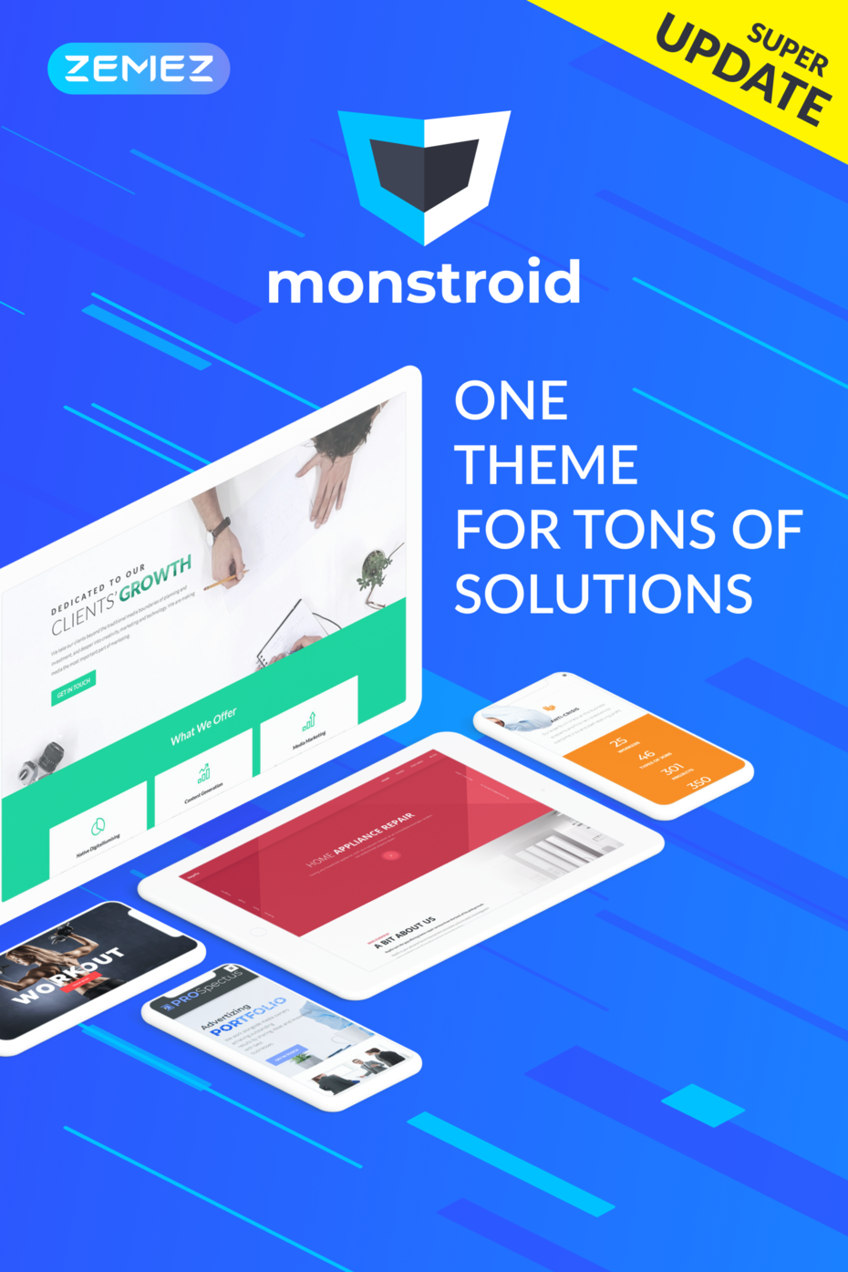 Monstroid Bootstrap WordPress Theme