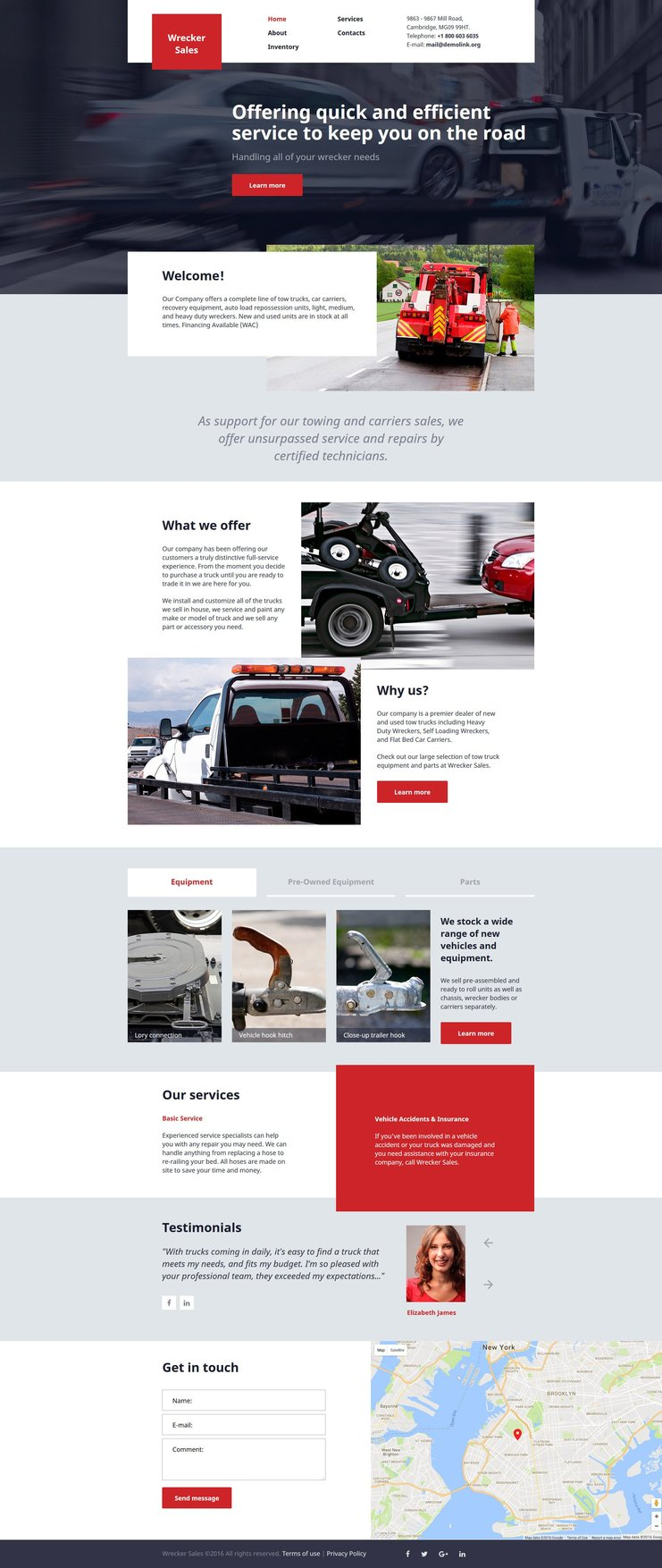 Trucking Responsive Bootstrap Website Template