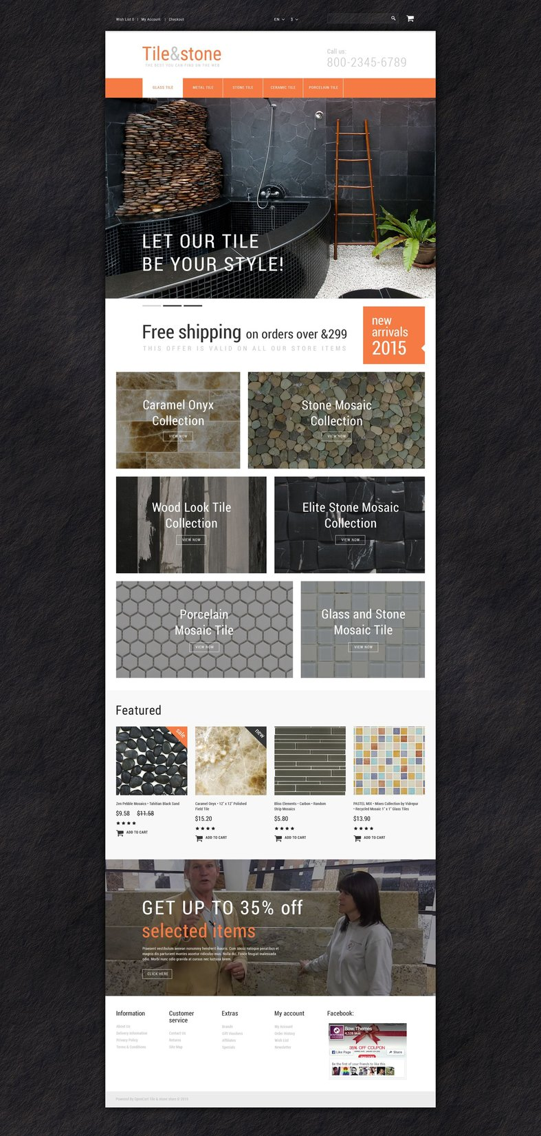 Flooring website templates - Weblium