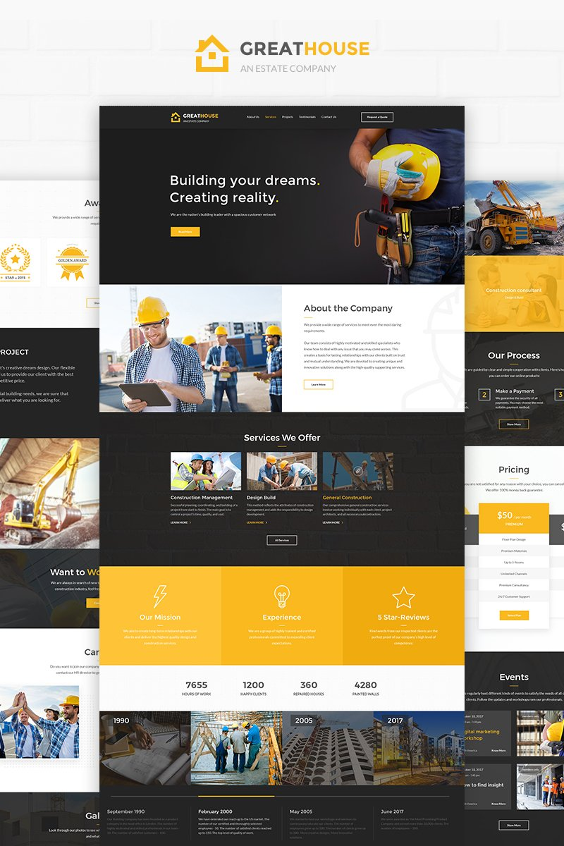 Construction Ready-made Website Template