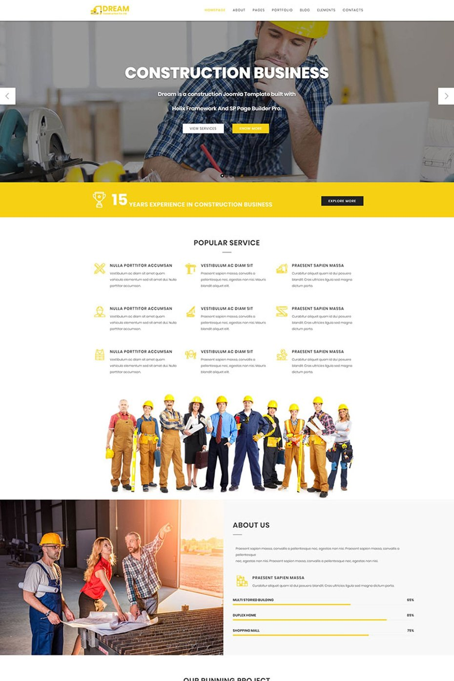Construction Bootstrap Joomla Template