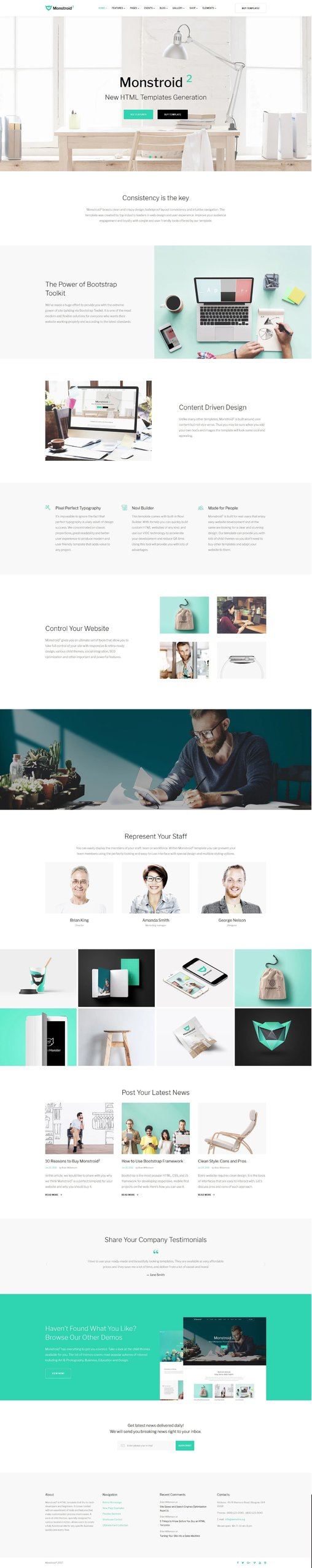 Monstroid2 Multipurpose Responsive Website Theme