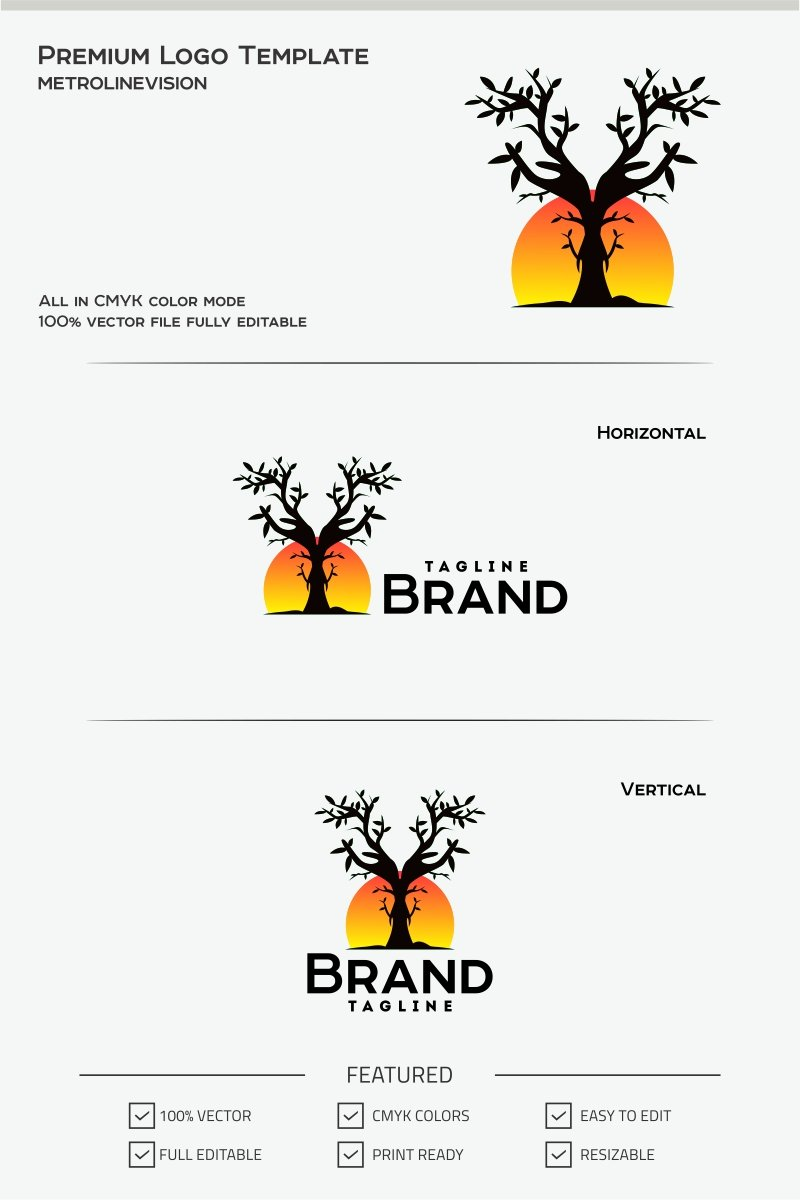 Care Tree Logo Template