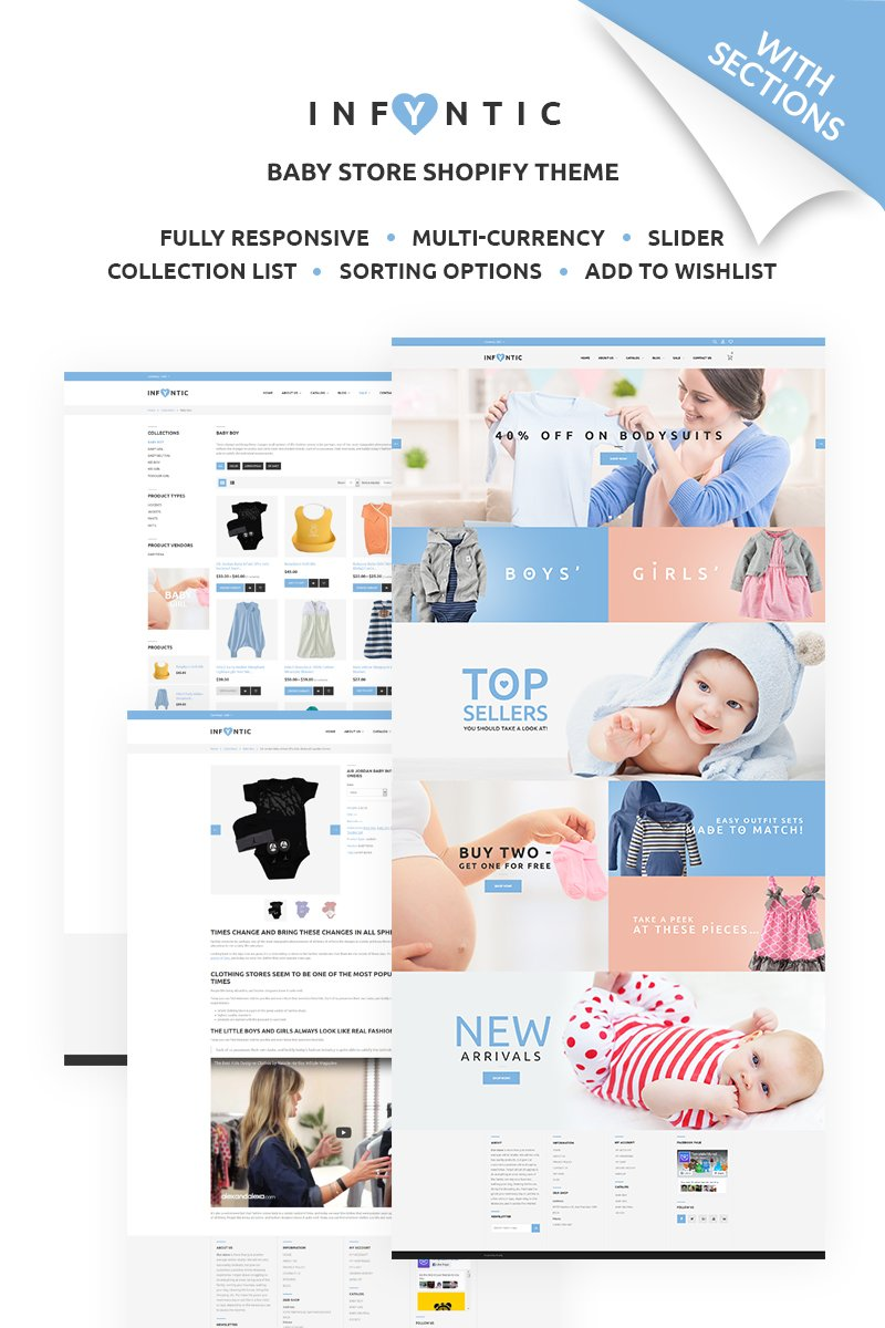 Calm Baby Clothing Online Shop Responsive Shopify Theme