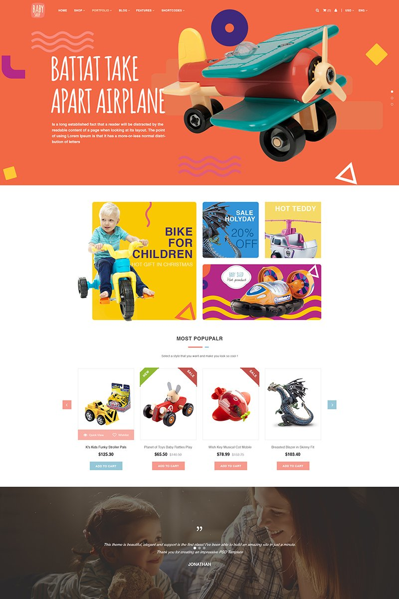 Baby Store PSD Template