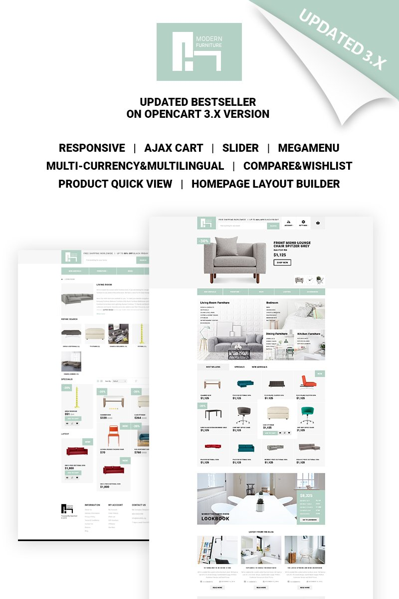 Furniture Store Bootstrap OpenCart Template