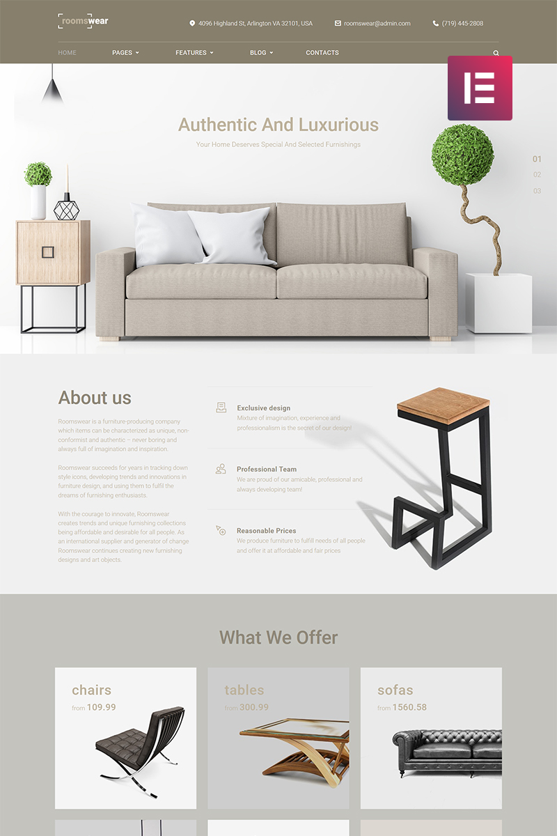 Furniture Elementor Responsive WordPress Theme