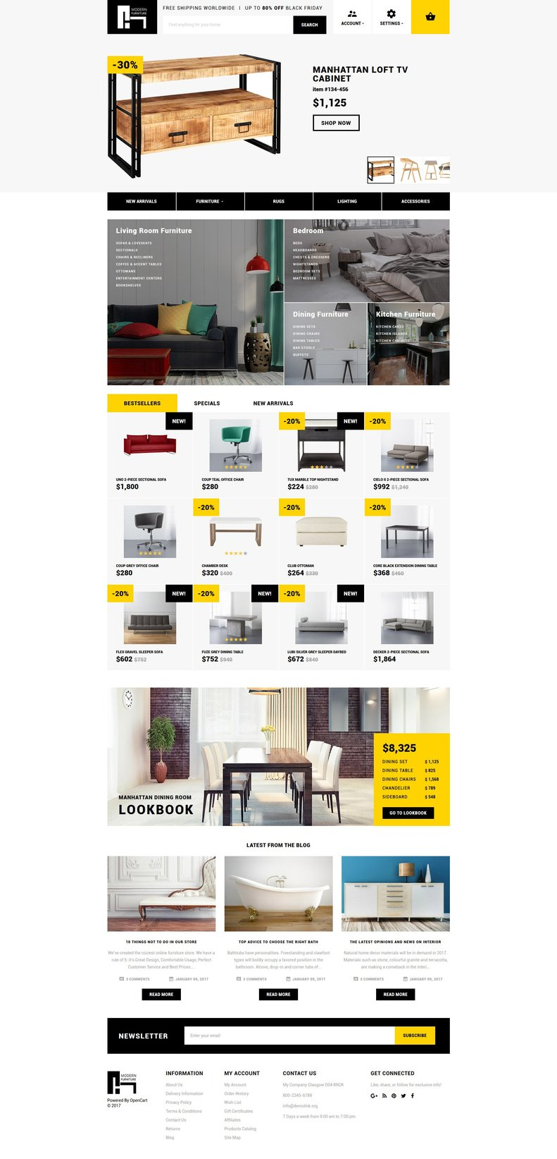 Interior & Home Decor Responsive Responsive OpenCart Template