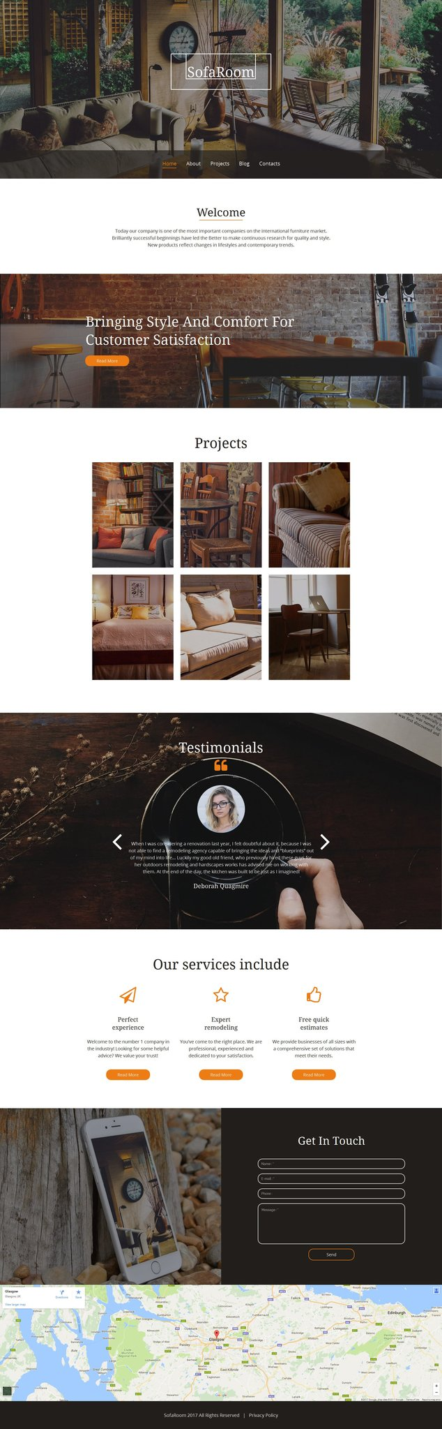 Furniture Bootstrap Moto CMS 3 Template