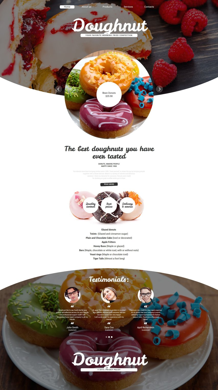 Food Drink Website Templates - Weblium