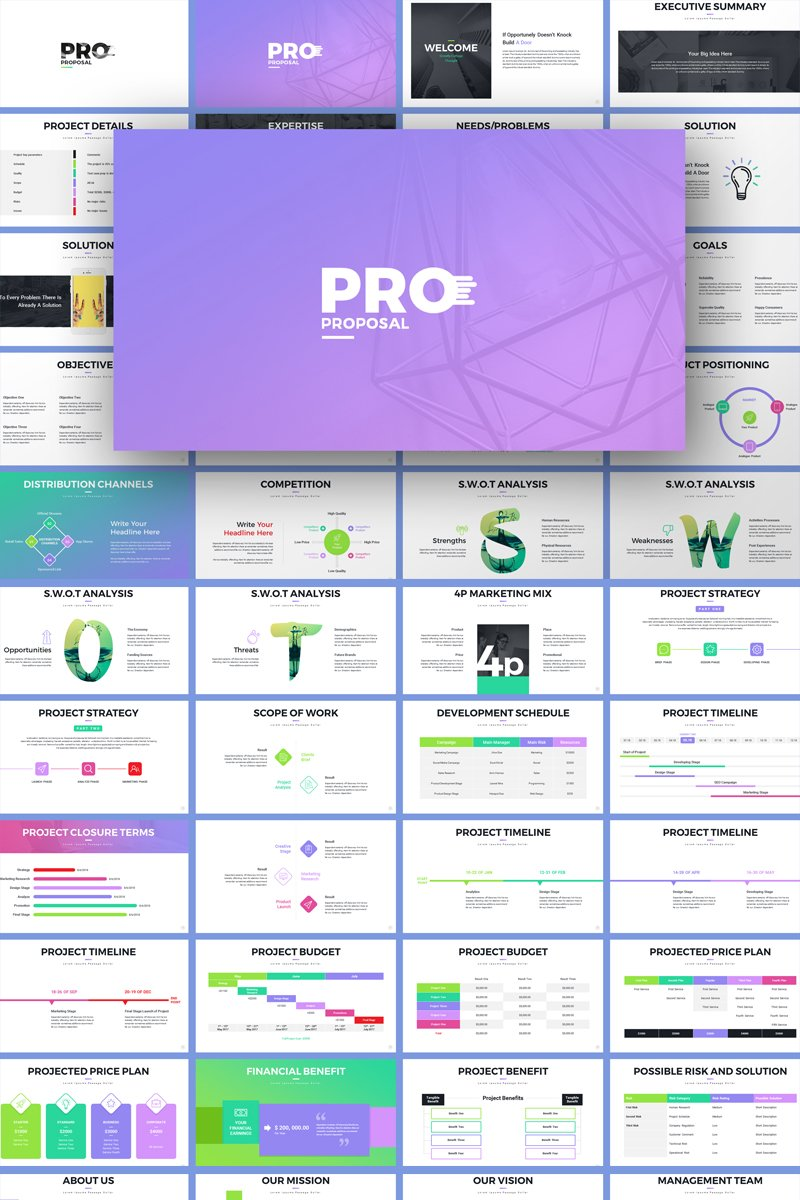 roject Proposal Amazing PowerPoint Template
