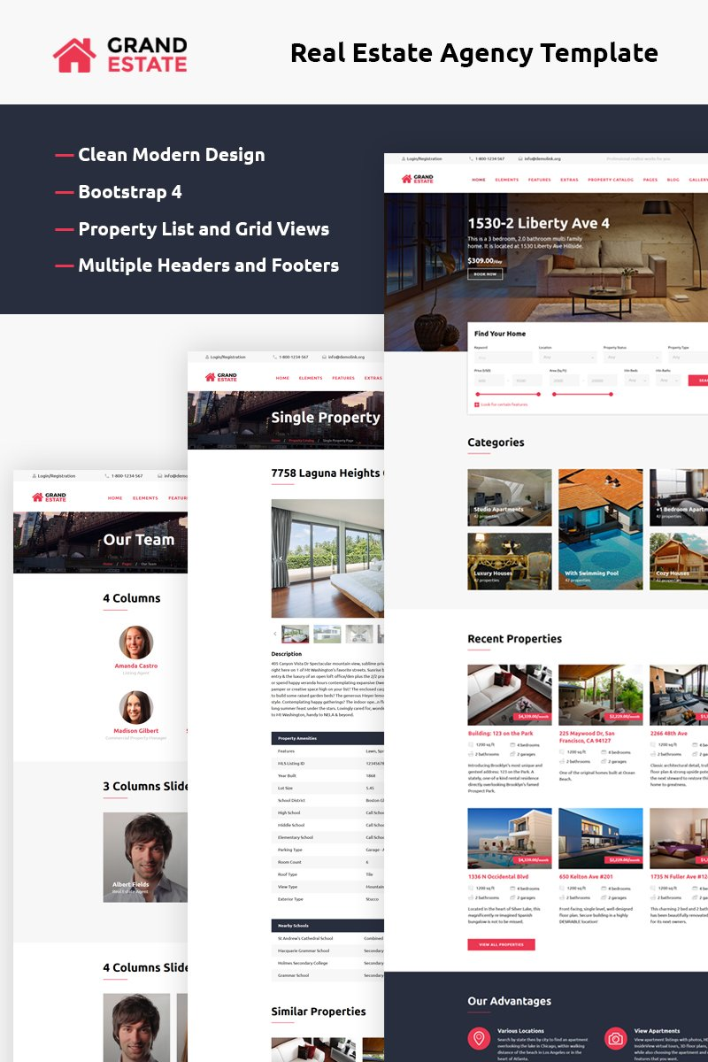 Grand Estate Bootstrap Website Template