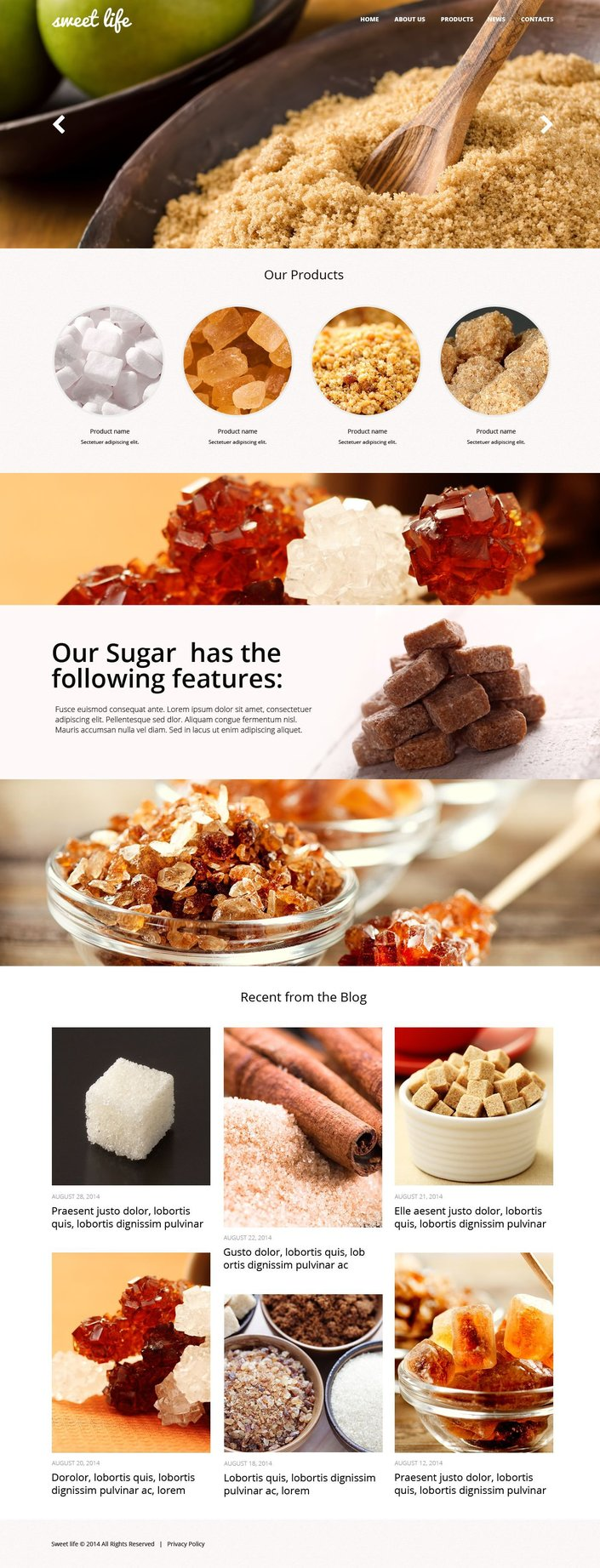 Food & Drink Bootstrap Website Theme