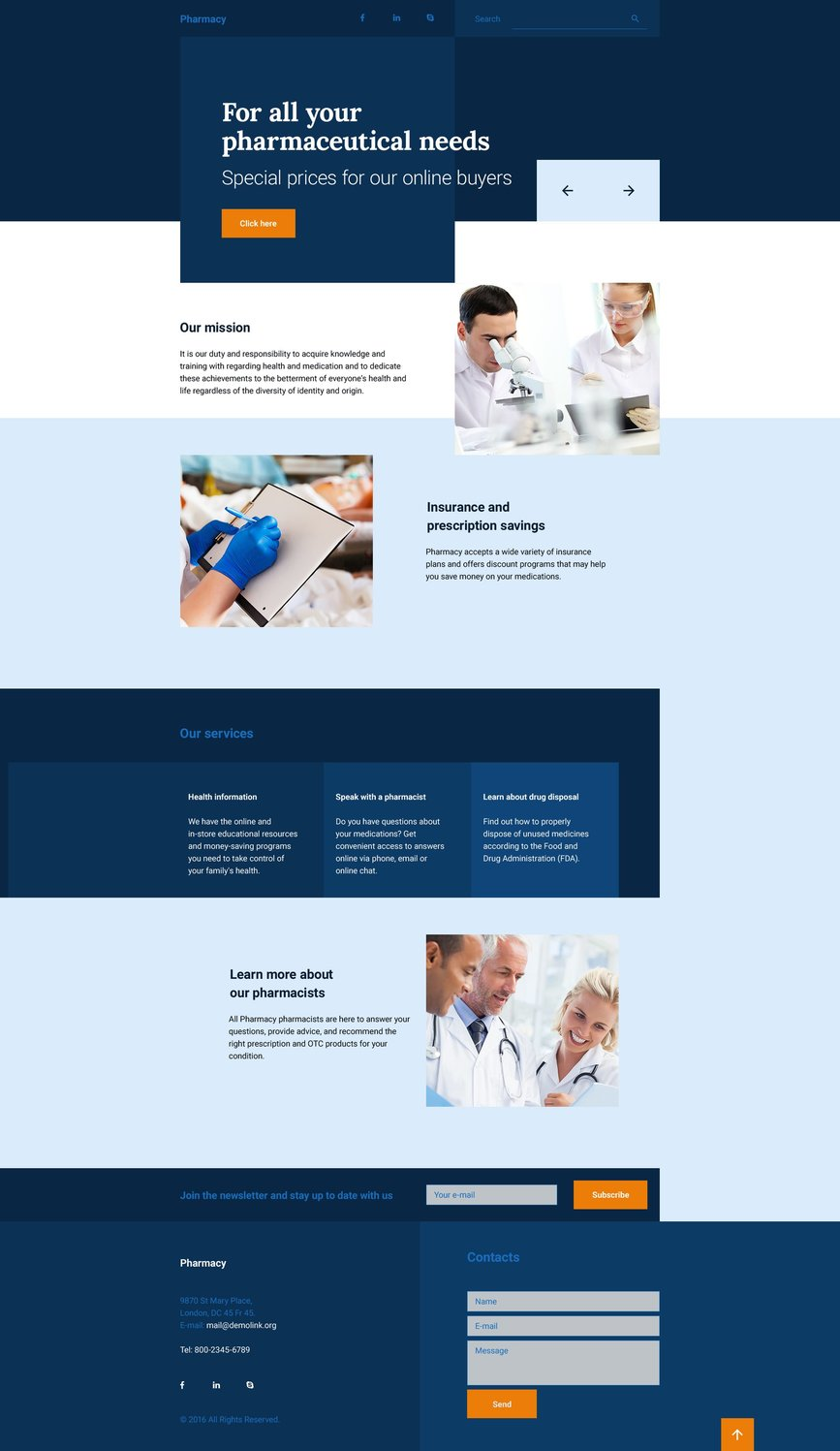 Drug Store Website Templates - Weblium