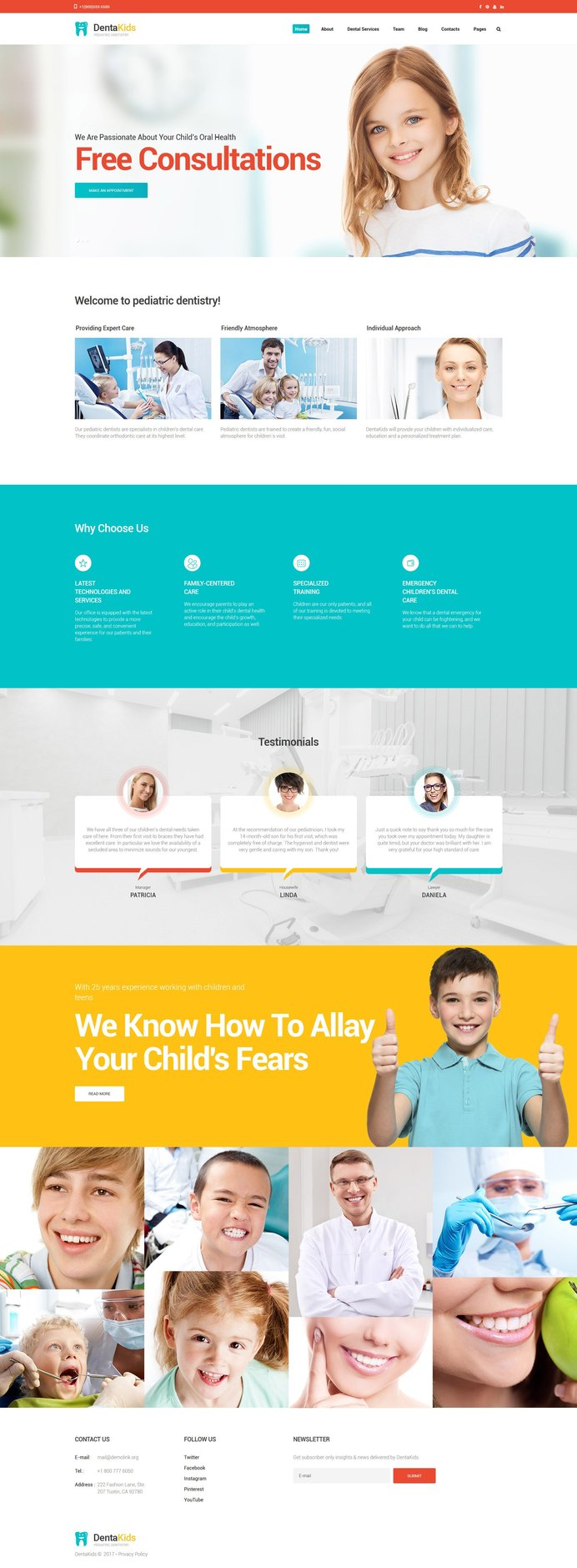 DentaKids Bootstrap Website Template