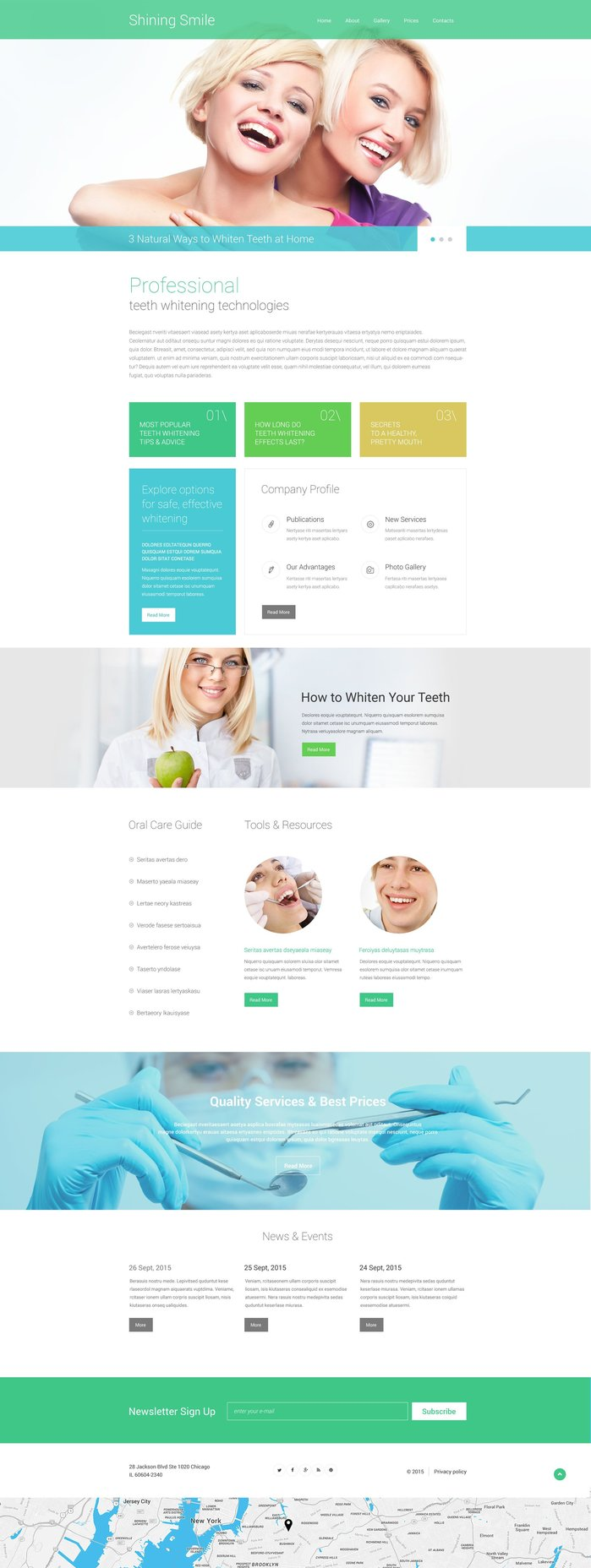 Dentistry Responsive Website Theme
