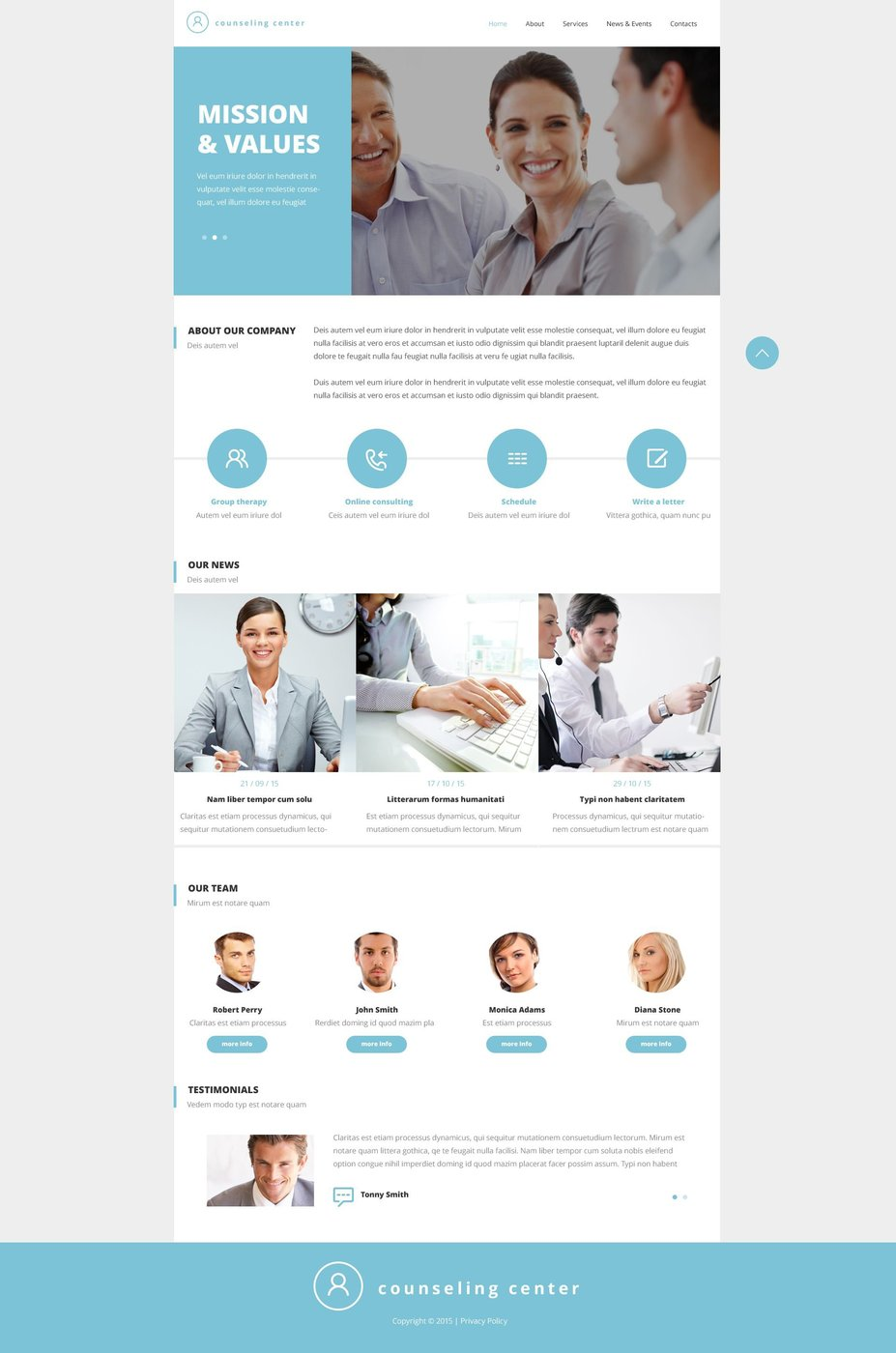 Counseling Bootstrap Website Template