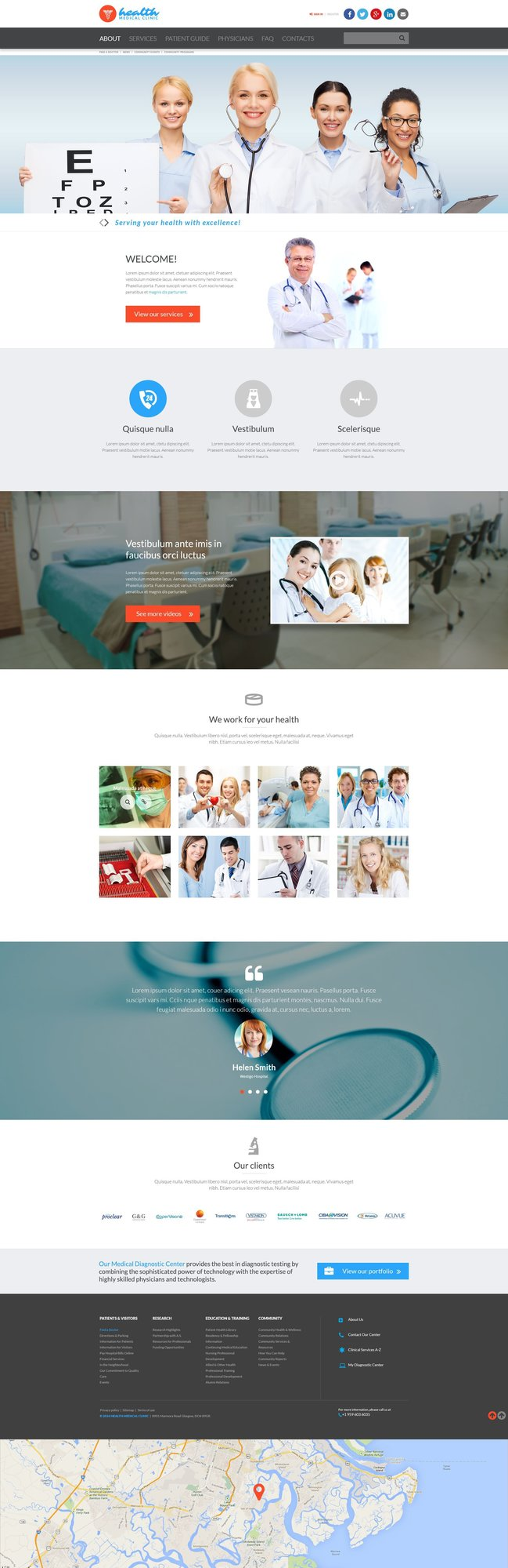 Medical Parallax Website Template