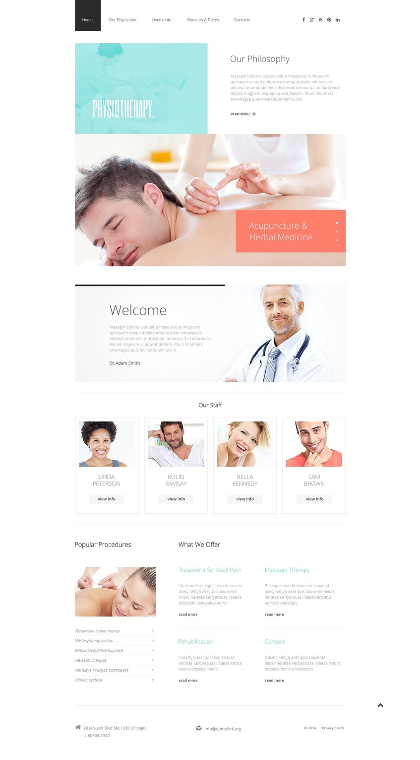 Rehabilitation Website Templates - Weblium