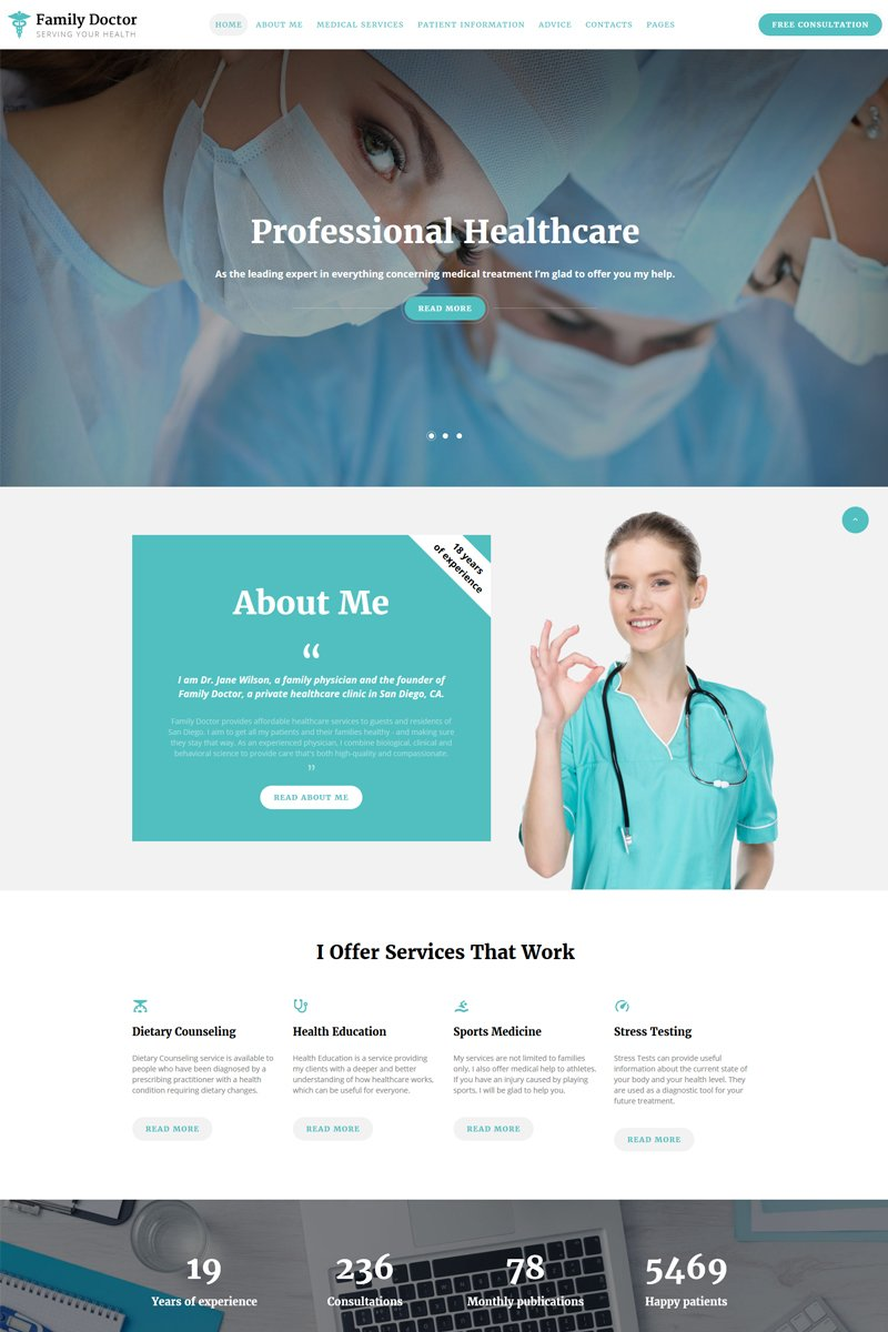 Medical Consulting Multipage HTML5 Responsive Website Theme