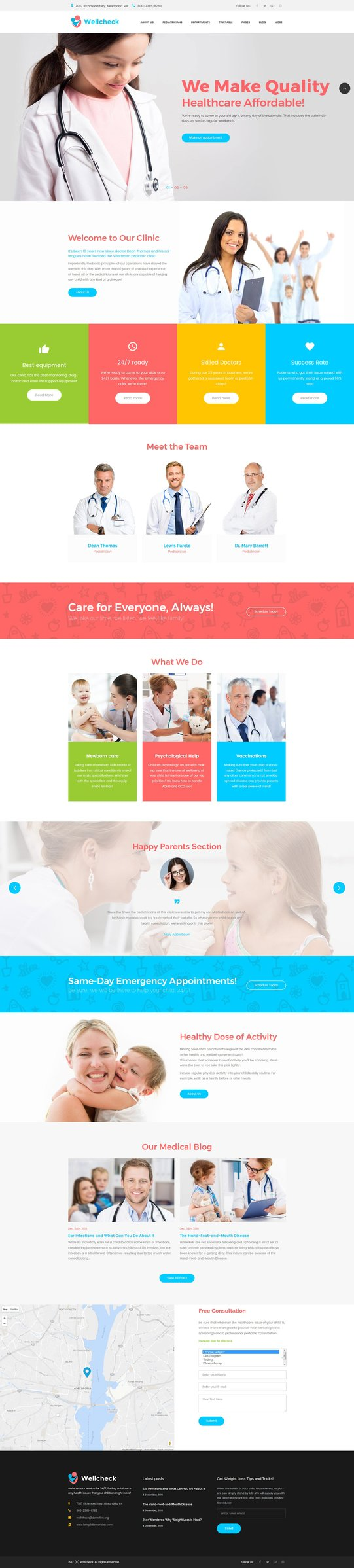 Pediatric Clinic Responsive WordPress Theme