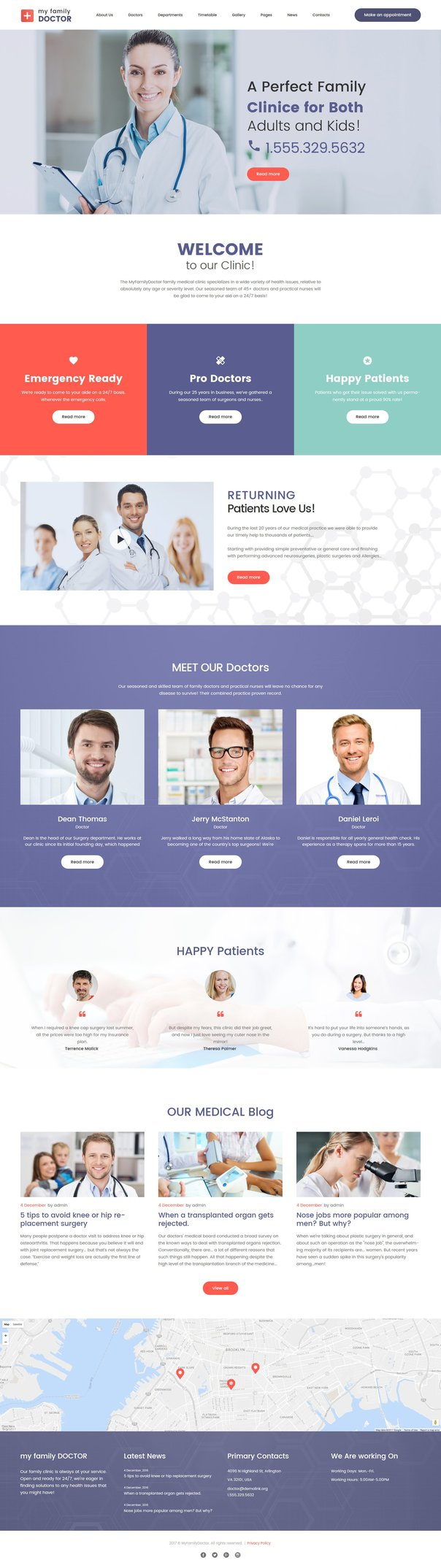 Private Family Doctor WPML ready WordPress Template