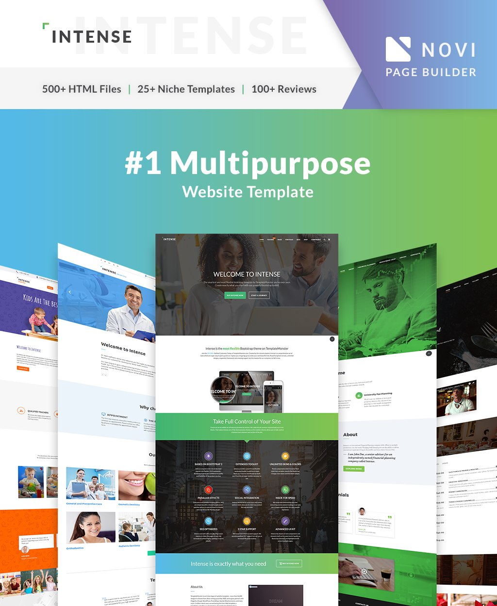 Intense Multipurpose Premium Website Template
