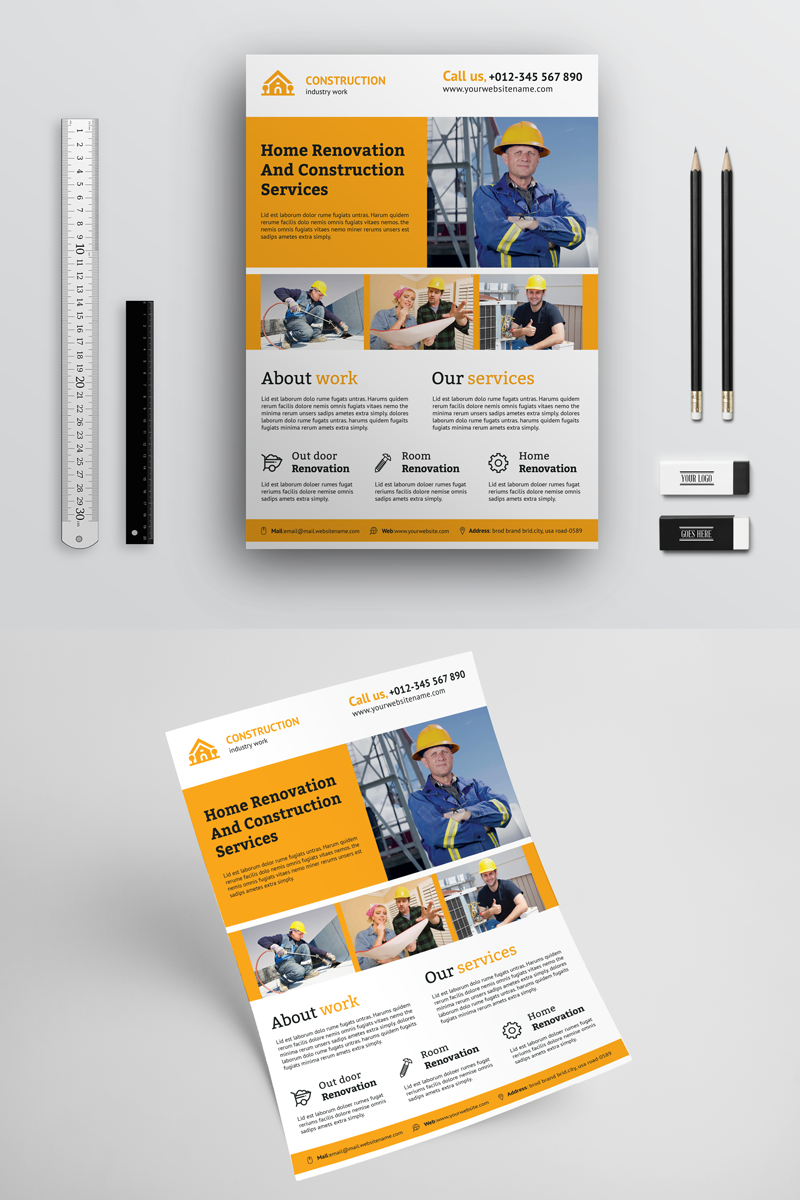 Creative Construction Flyer Corporate identity Template