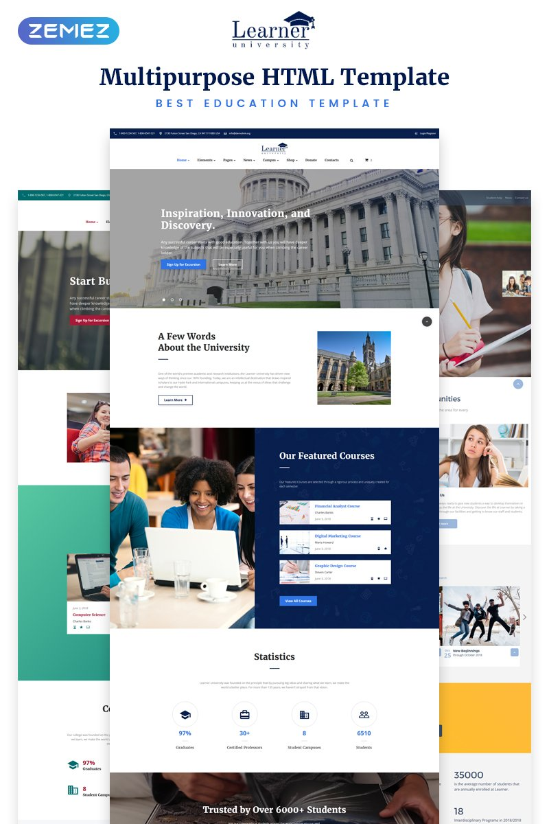 Education Multipurpose HTML5 Premium Website Template