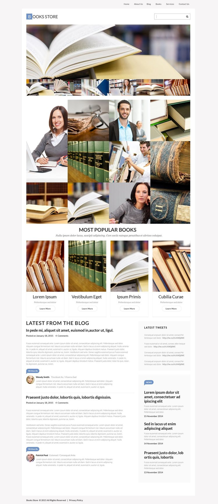 Book Store WPML ready WordPress Template