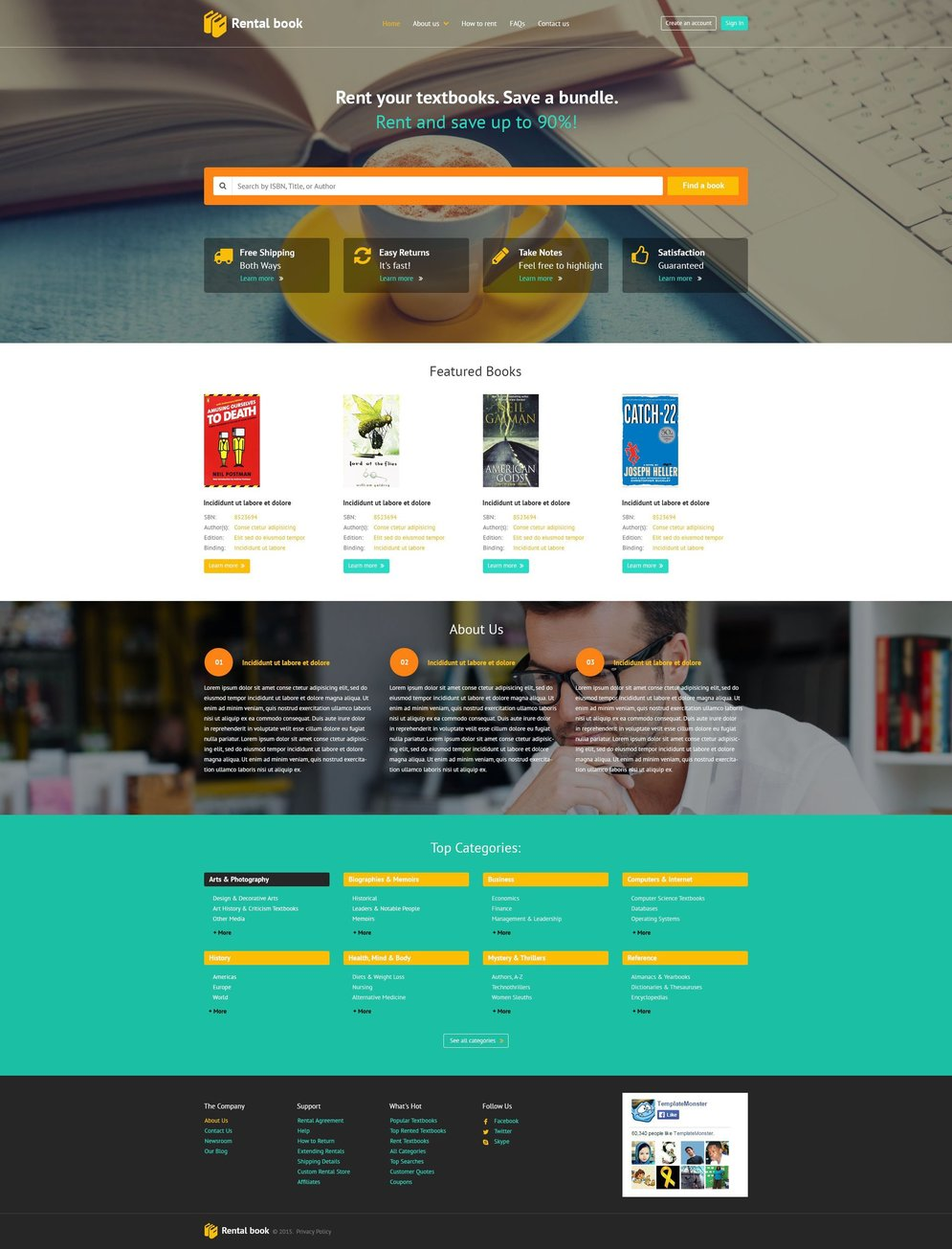 Books Parallax Website Template