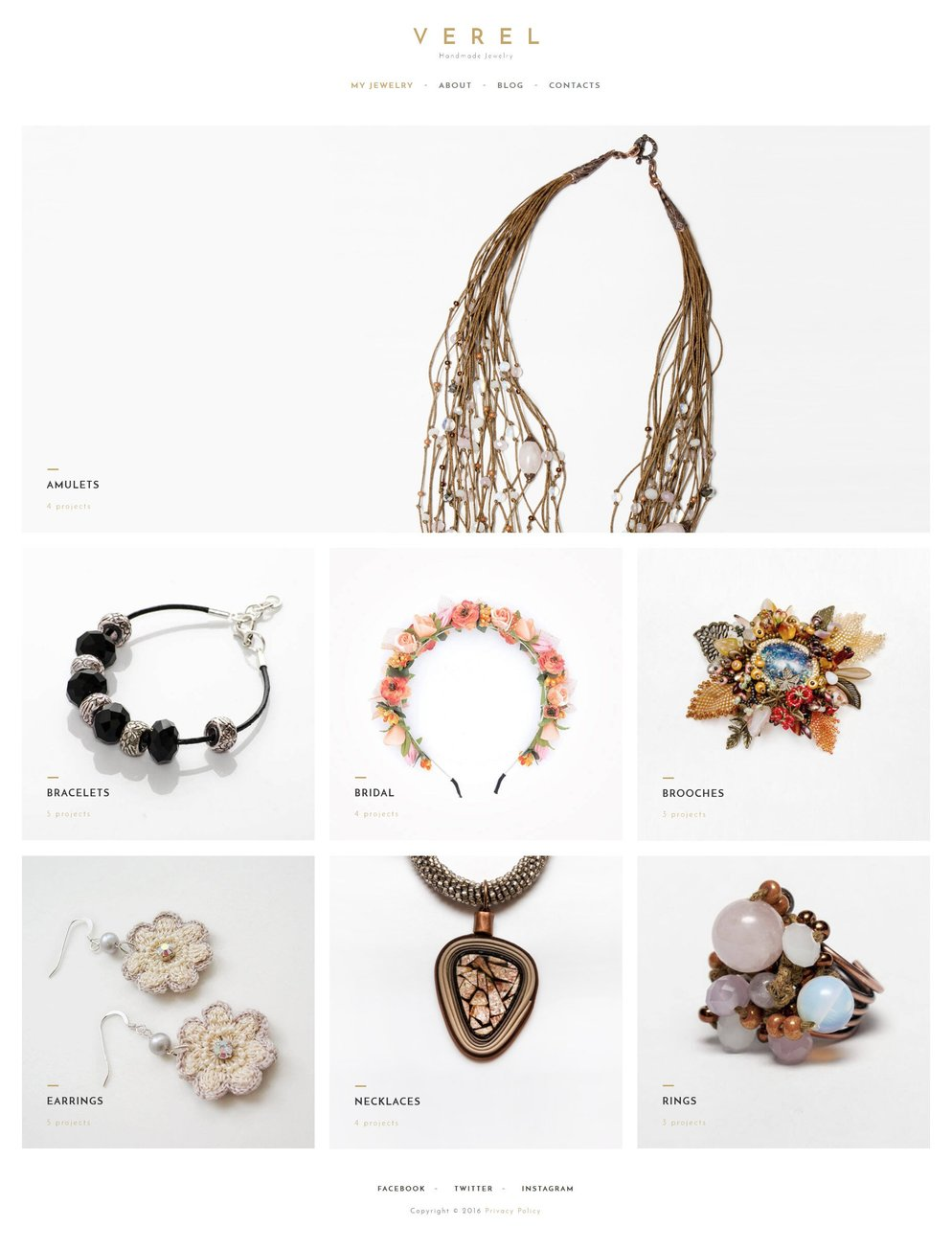 Handmade Jewelry WPML ready WordPress Template