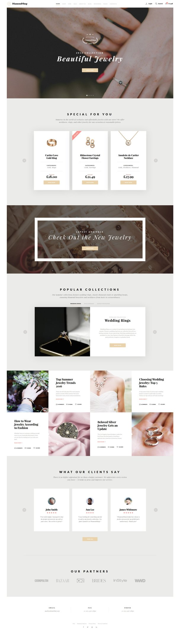Beautiful Jewelry Responsive Bootstrap Website Template