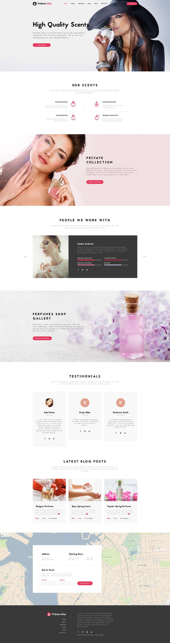 Cosmetics Store Multipage Bootstrap Website Template