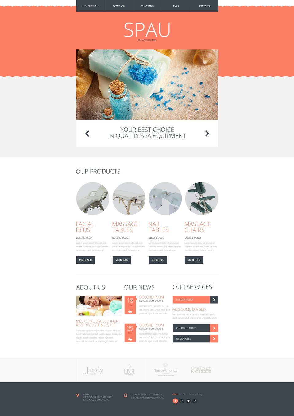 Spa Accessories Responsive Website Template