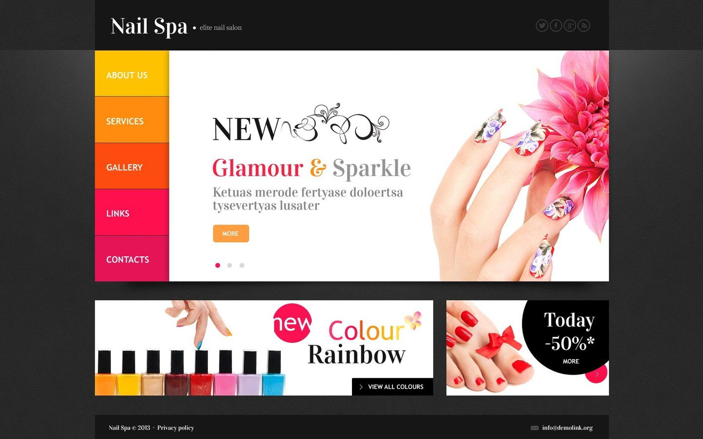 Nail Salon Bootstrap Website Template