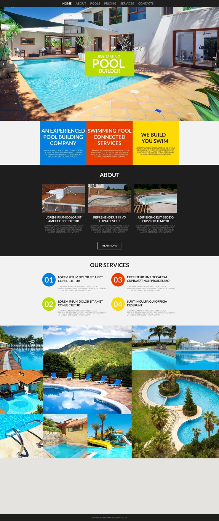 Pool Cleaning Premium Theme