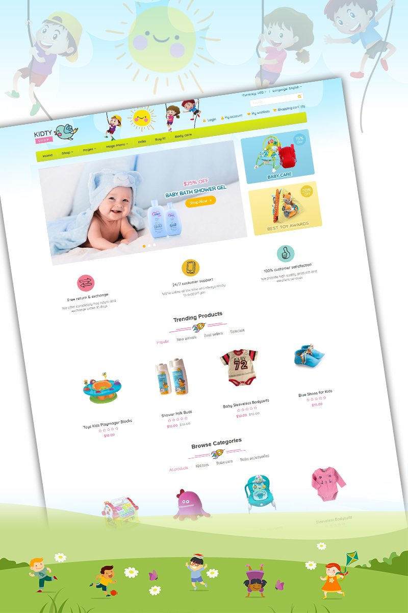 For Kid and Toy Responsive WooCommerce Theme