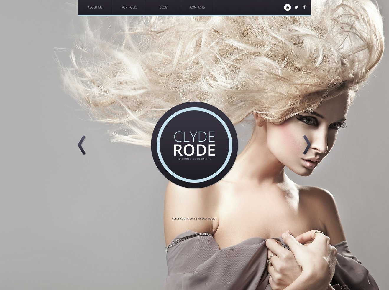 Photographer Portfolio Bootstrap Website Template